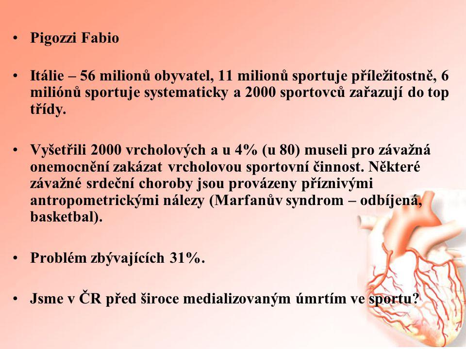 •Pigozzi Fabio •Itálie – 56 milionů obyvatel, 11 milionů sportuje příležitostně, 6 miliónů sportuje systematicky a 2000 sportovců zařazují do top tříd