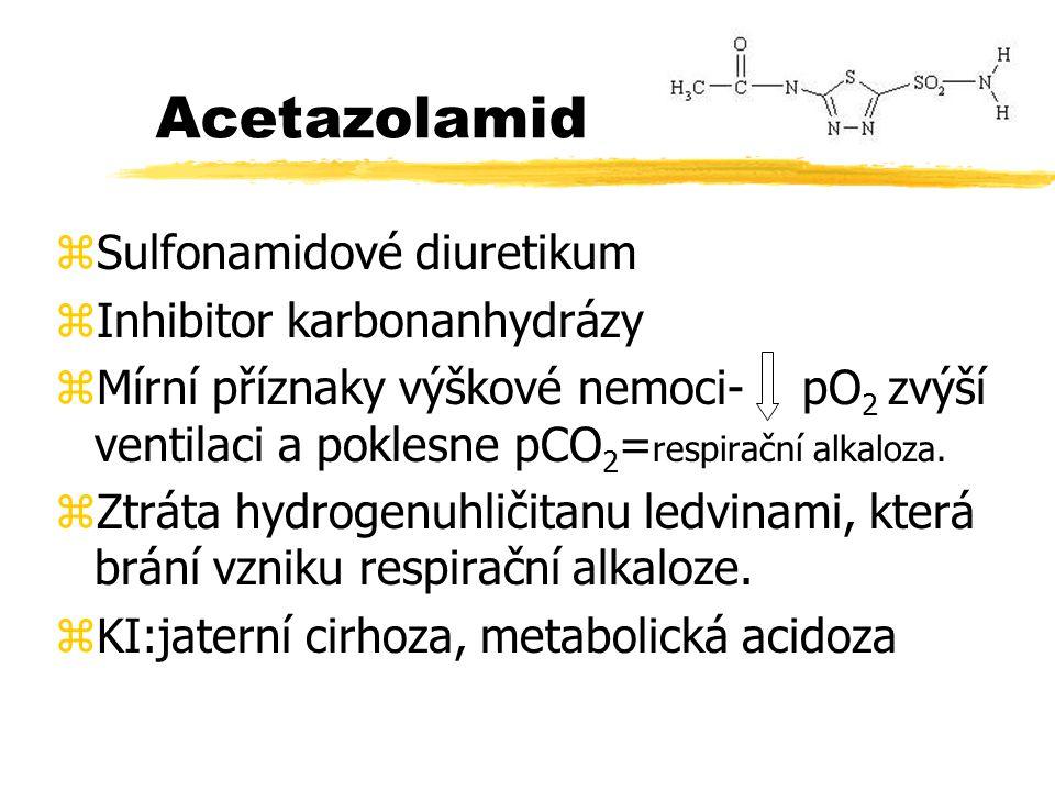 Taktika léčení akutní horské nemoci 1.acetazolamid 2 x 250 mg, 2.Nevystupovat výše, odpočinek 3.dexametazon 4mg 4.ASA, ibuprofen 5.ATB-vyvarovat se. 6