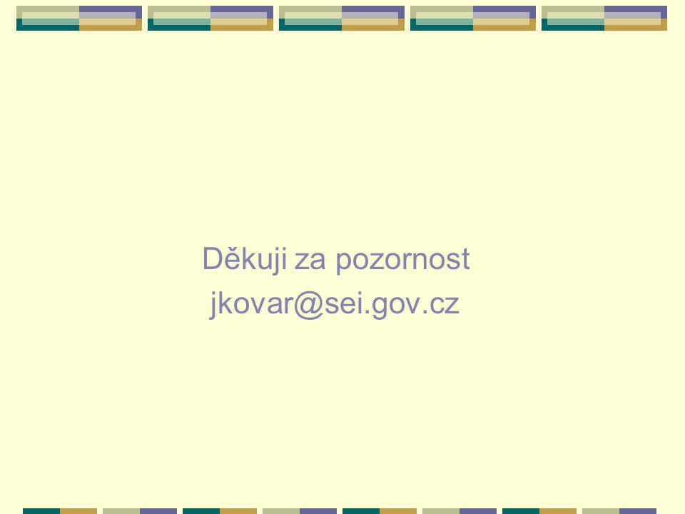 Děkuji za pozornost jkovar@sei.gov.cz