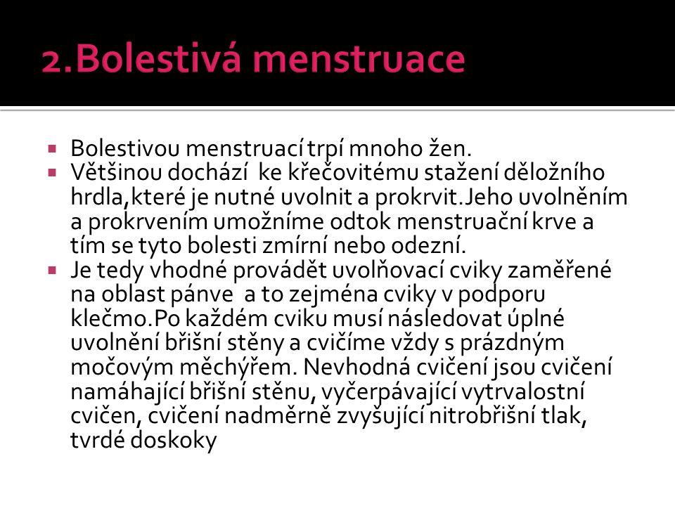  Bolestivou menstruací trpí mnoho žen.  Většinou dochází ke křečovitému stažení děložního hrdla,které je nutné uvolnit a prokrvit.Jeho uvolněním a p