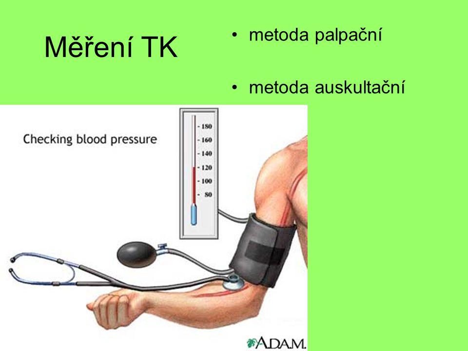 Měření TK •metoda palpační •metoda auskultační