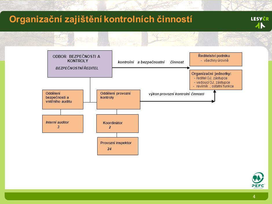 Organizační zajištění kontrolních činností 4 2 Provozní inspektor 24