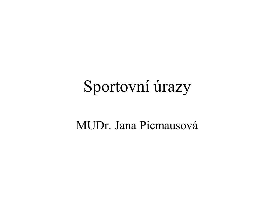 Sportovní úrazy MUDr. Jana Picmausová