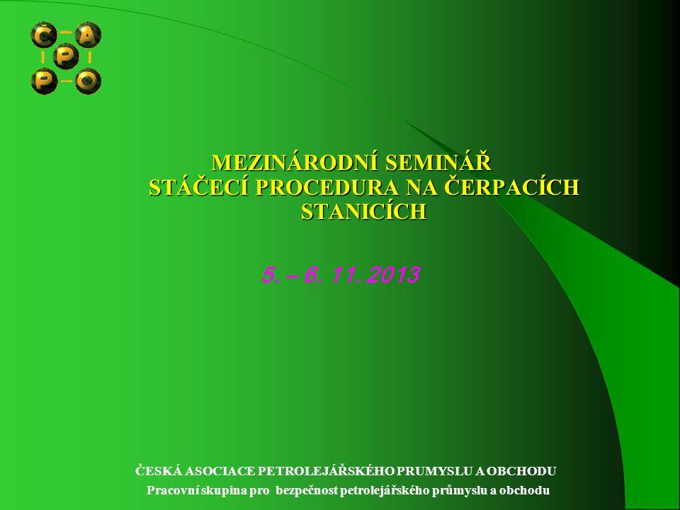 MEZINÁRODNÍ SEMINÁŘ STÁČECÍ PROCEDURA NA ČERPACÍCH STANICÍCH 5.