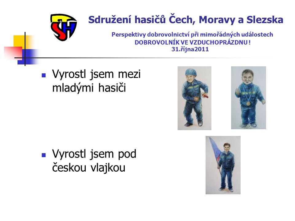 Sdružení hasičů Čech, Moravy a Slezska Perspektivy dobrovolnictví při mimořádných událostech DOBROVOLNÍK VE VZDUCHOPRÁZDNU ! 31.října2011  Vyrostl js