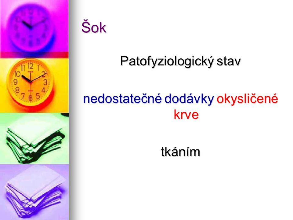 Příznaky •neprokrvené periferie •hypotenze (pokles TK) •oligurie Kolik orgánů je postiženo selháním?