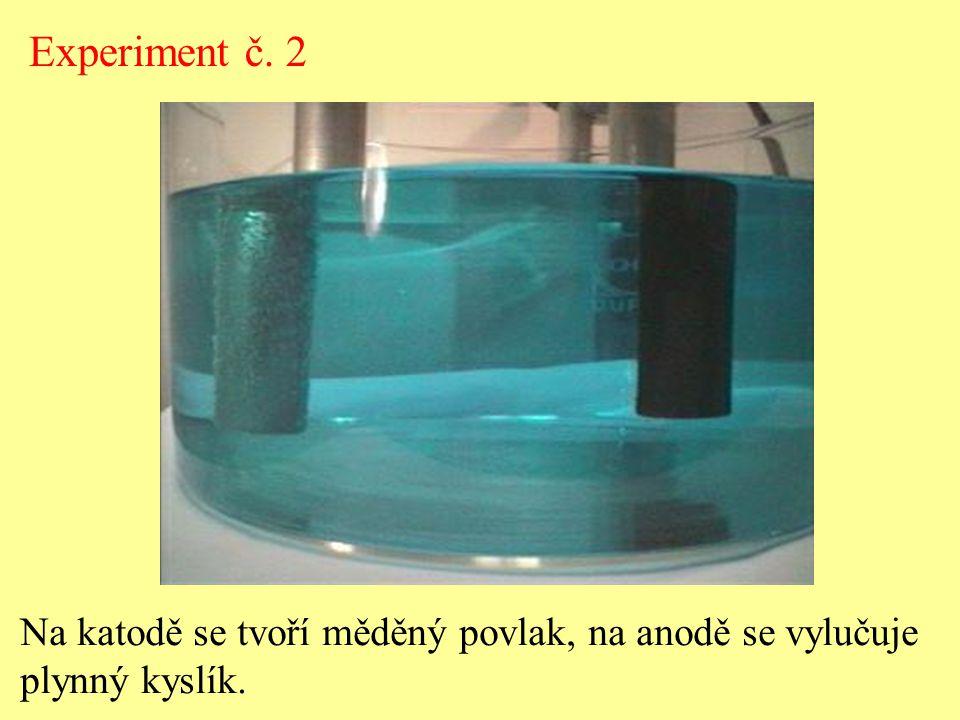 HCl  H + + Cl - Experiment č.3 Elektrolyt - vodný roztok HCl.