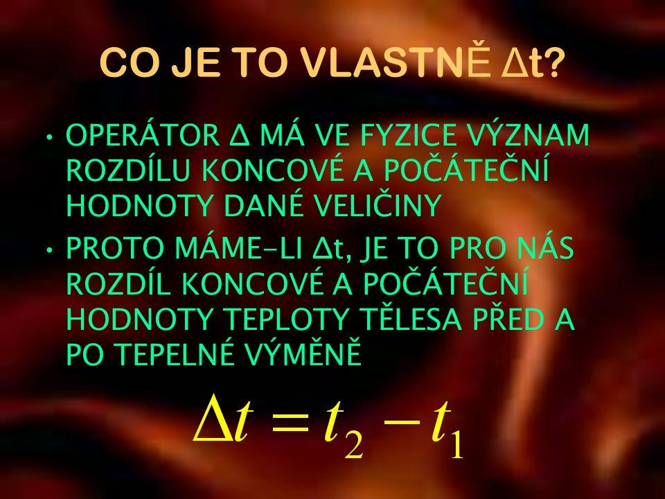CO JE TO VLASTN Ě Δ t.