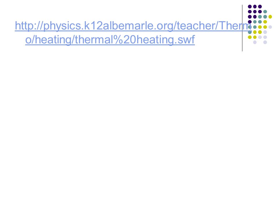 http://physics.k12albemarle.org/teacher/Therm o/heating/thermal%20heating.swf