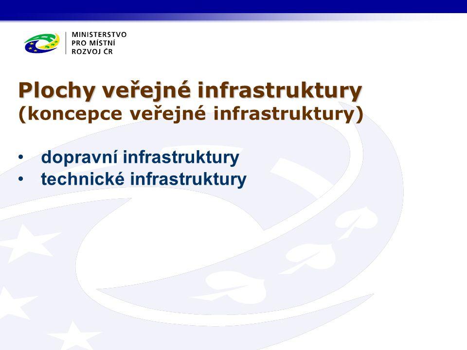 Plochy veřejné infrastruktury (koncepce veřejné infrastruktury) •dopravní infrastruktury •technické infrastruktury