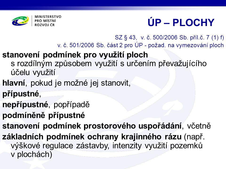 SZ § 43, v.č. 500/2006 Sb. příl.č. 7 (1) f) v. č.