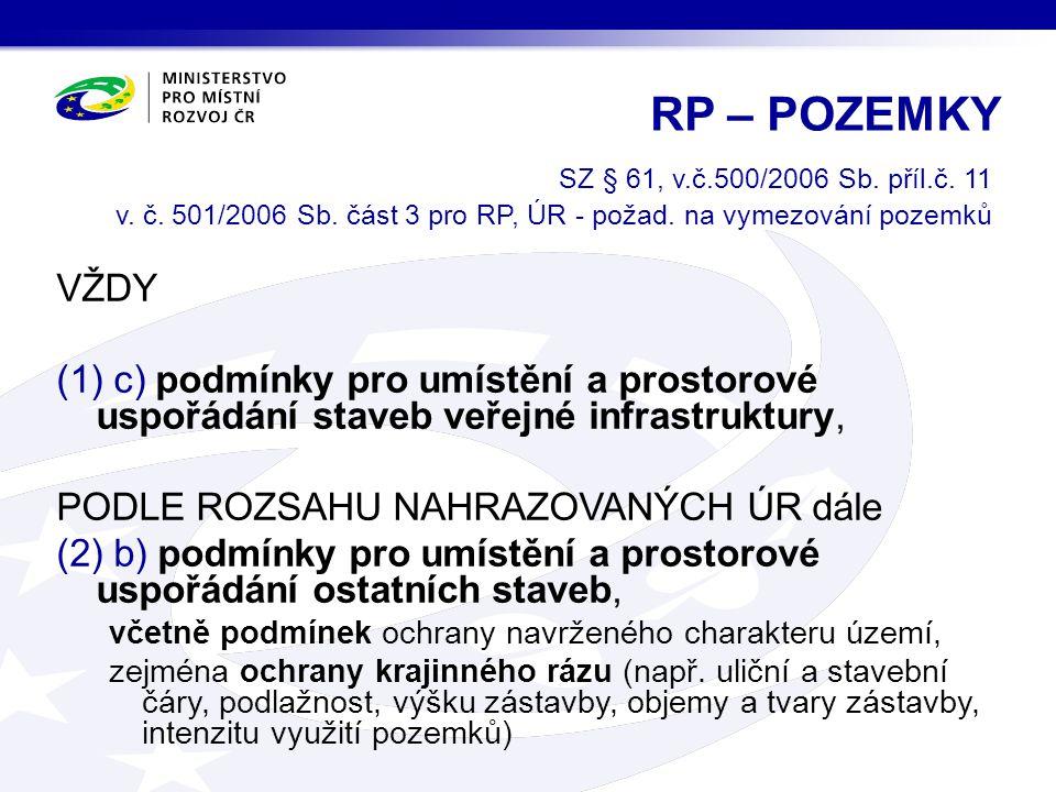 SZ § 61, v.č.500/2006 Sb.příl.č. 11 v. č. 501/2006 Sb.