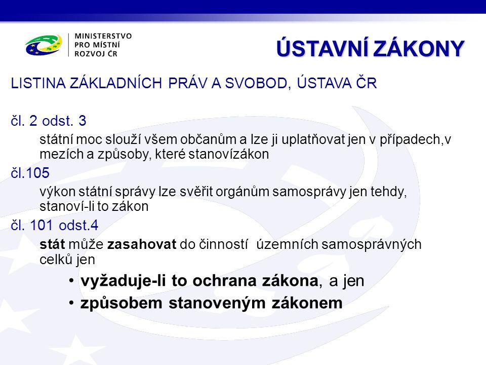 LISTINA ZÁKLADNÍCH PRÁV A SVOBOD, ÚSTAVA ČR čl.2 odst.