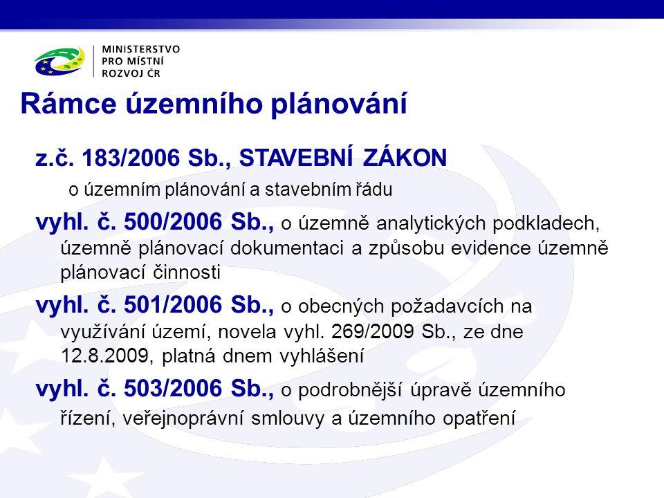 z.č.183/2006 Sb., STAVEBNÍ ZÁKON o územním plánování a stavebním řádu vyhl.