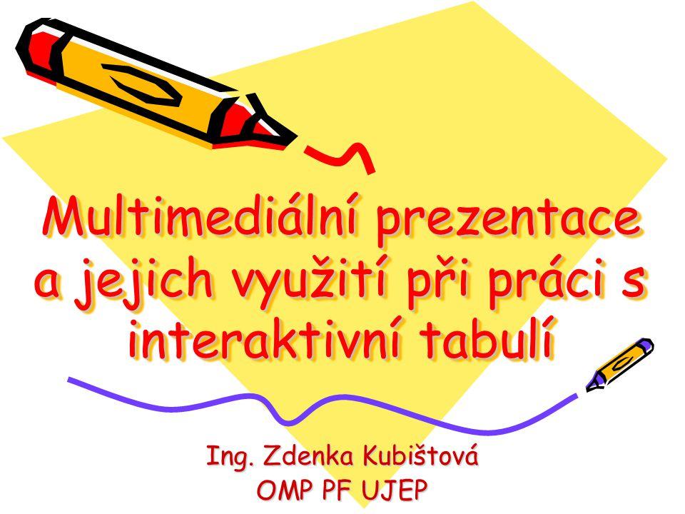 Multimediální prezentace a jejich využití při práci s interaktivní tabulí Ing.