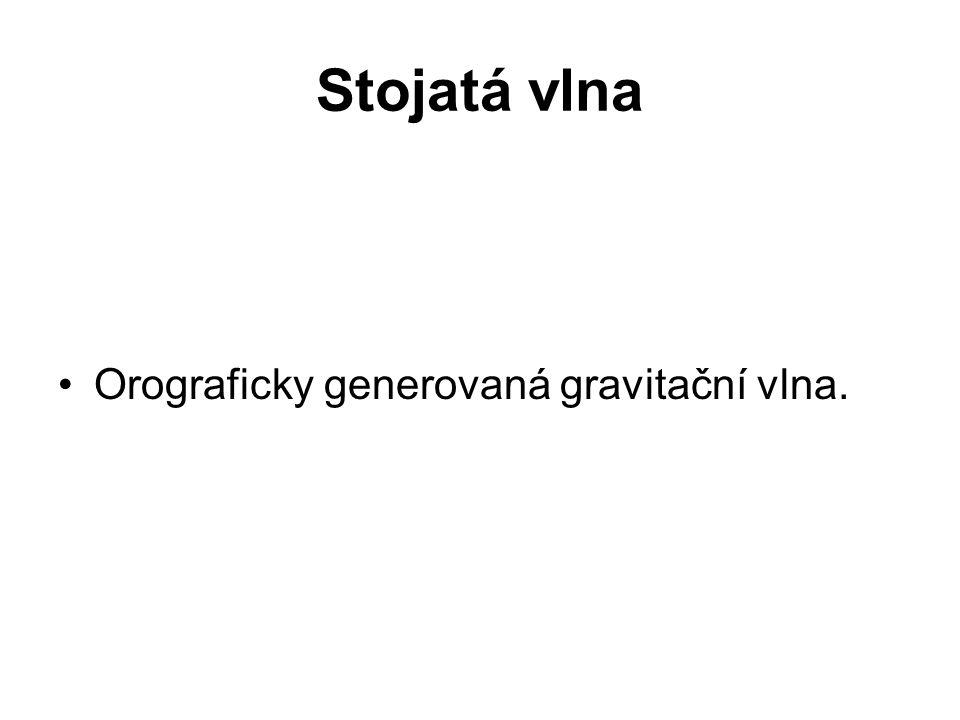 Stojatá vlna •Orograficky generovaná gravitační vlna.