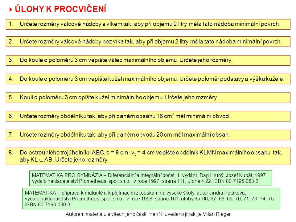 MATEMATIKA – příprava k maturitě a k přijímacím zkouškám na vysoké školy, autor Jindra Petáková, vydalo nakladatelství Prometheus, spol. s r.o., v roc