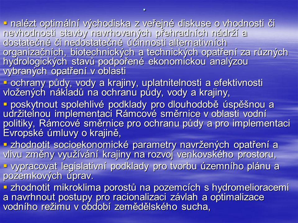 Nový VZ  Projekt 01: Tvorba a naplnění pedologického a hydropedologického informačního systému ČR pro ochranu a rozvoj venkovského prostoru.