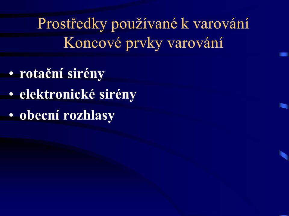 Počty koncových prvků varování ve Zlínském kraji TypHZS ZLKOstatní RS234 78 (PO) 184 (obec) ES329 MR0126 CELKEM266397