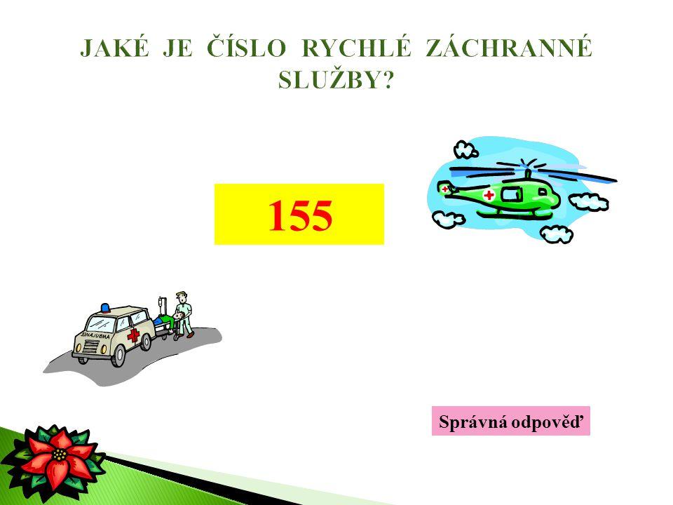Správná odpověď 155
