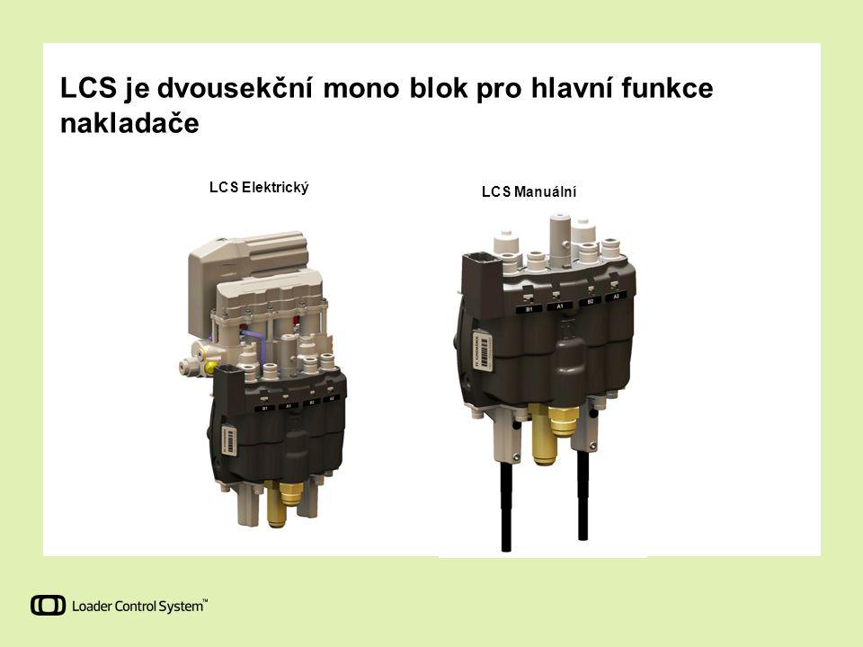 LCS Manuální LCS Elektrický LCS je dvousekční mono blok pro hlavní funkce nakladače