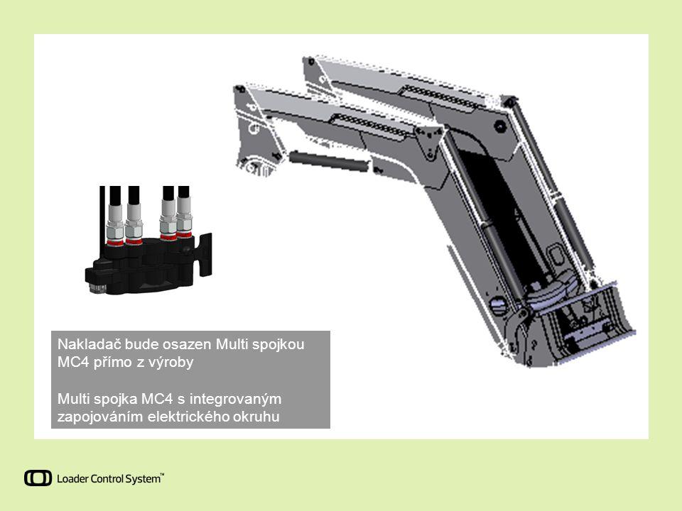 Nakladač bude osazen Multi spojkou MC4 přímo z výroby Multi spojka MC4 s integrovaným zapojováním elektrického okruhu