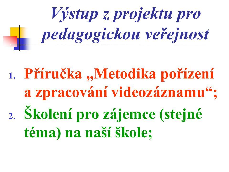 Výstup z projektu pro pedagogickou veřejnost 1.