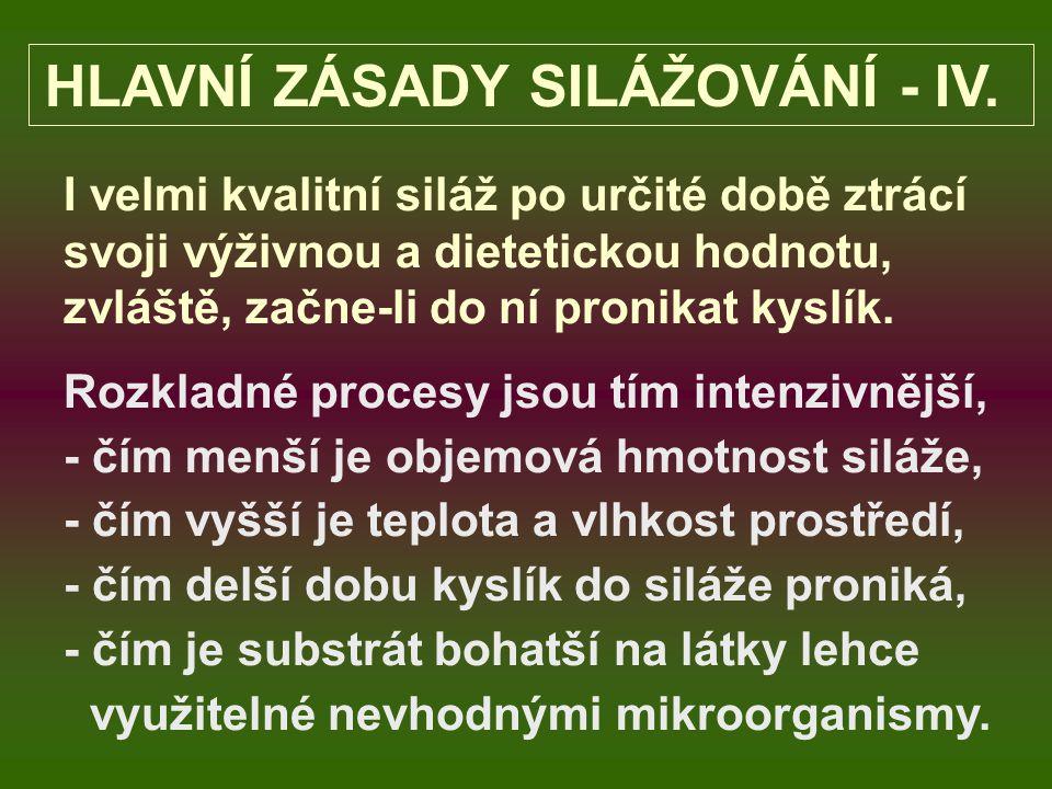 HLAVNÍ ZÁSADY SILÁŽOVÁNÍ - III.