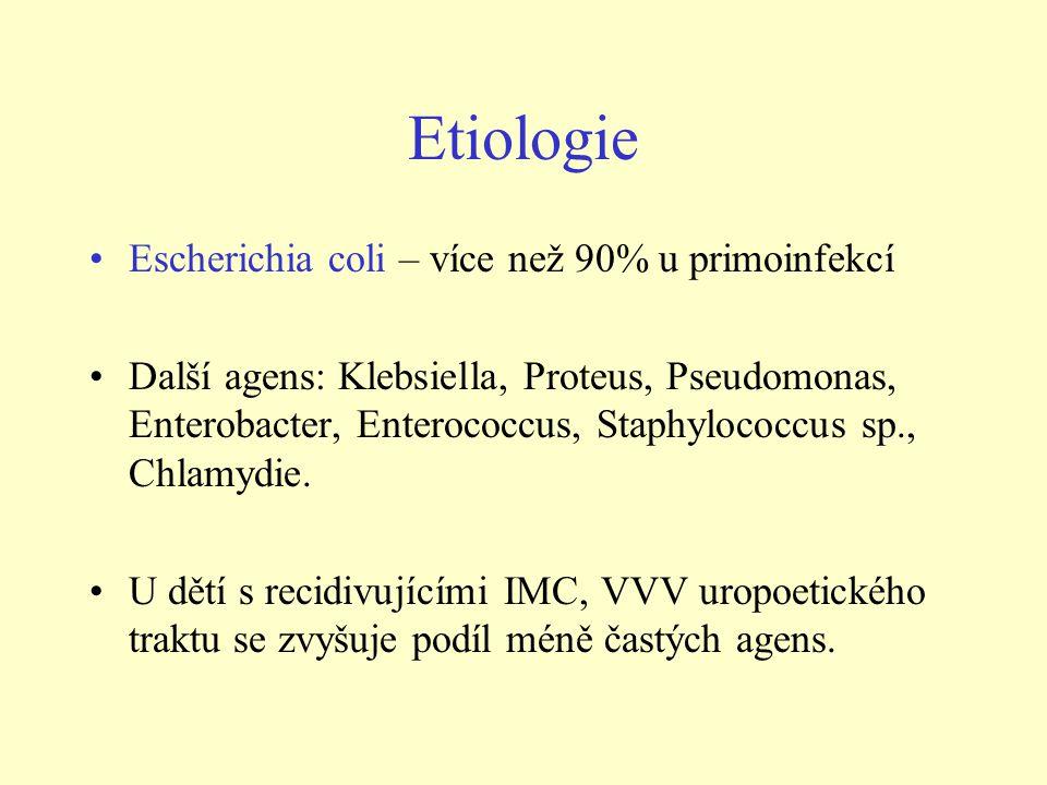 Klinický obraz akutní pyelonefritidy - novorozenci •Příznaky nespecifické, neupozorňují na možnost onemocnění ledvin.