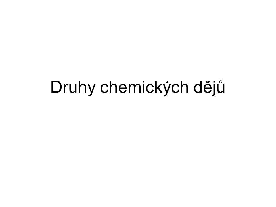 Druhy chemických dějů