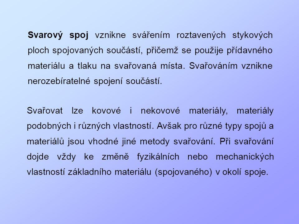 Příklady svarových spojů: