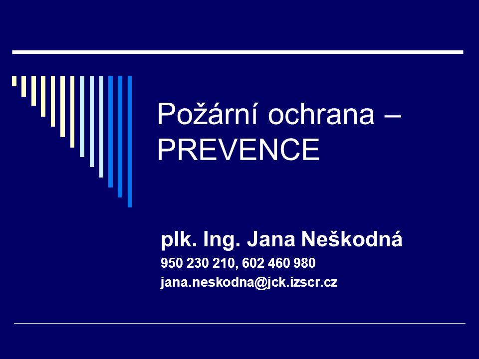 Požární ochrana – PREVENCE plk.Ing.