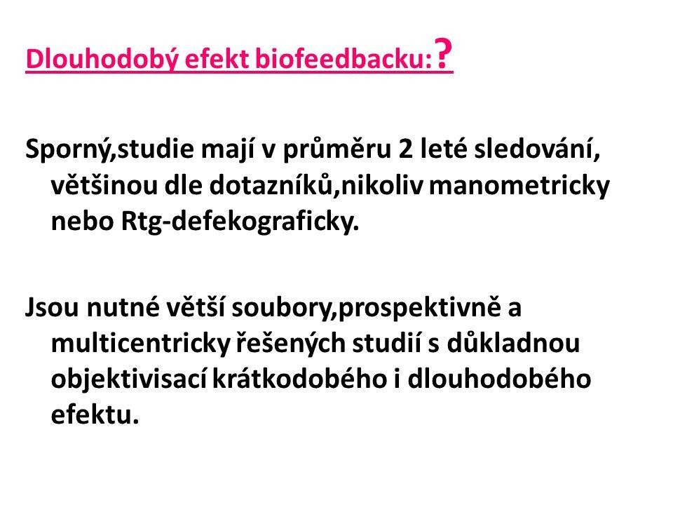 Dlouhodobý efekt biofeedbacku: .