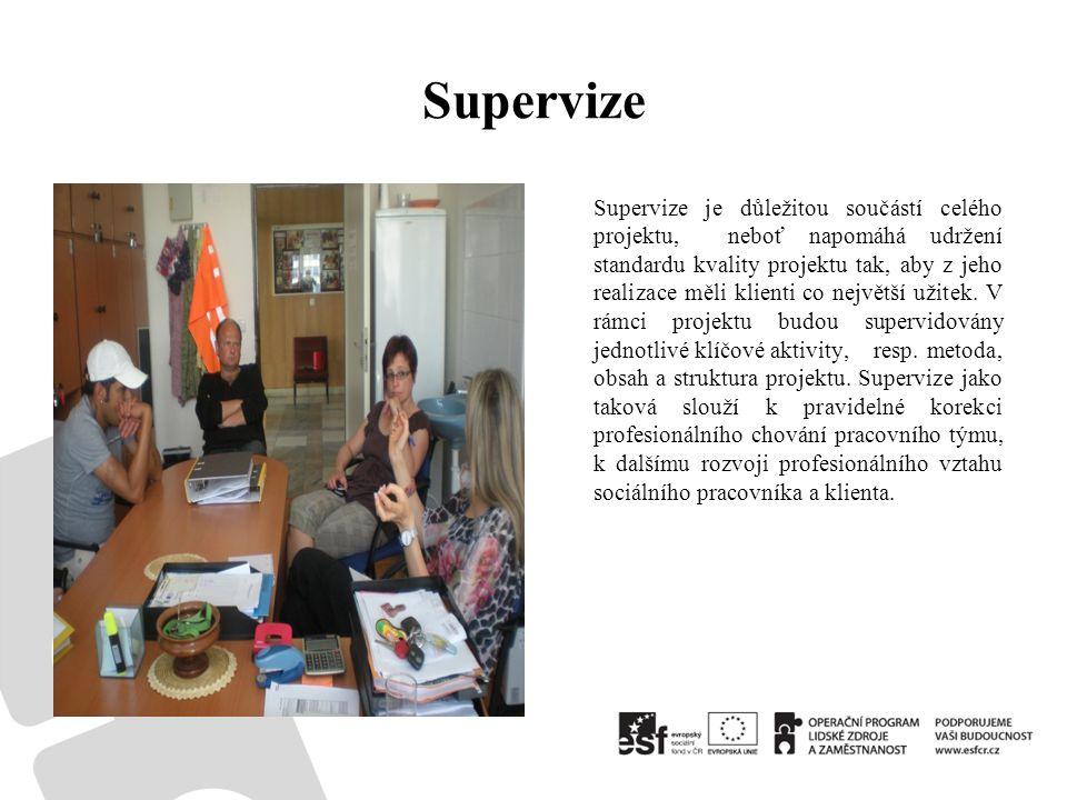 Supervize Supervize je důležitou součástí celého projektu, neboť napomáhá udržení standardu kvality projektu tak, aby z jeho realizace měli klienti co největší užitek.