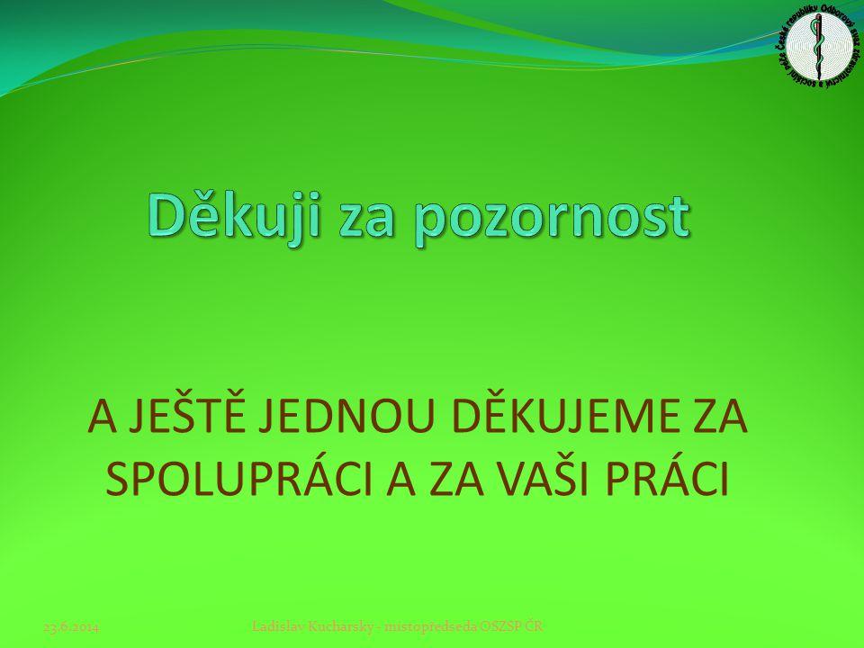 A JEŠTĚ JEDNOU DĚKUJEME ZA SPOLUPRÁCI A ZA VAŠI PRÁCI 23.6.2014Ladislav Kucharský - místopředseda OSZSP ČR