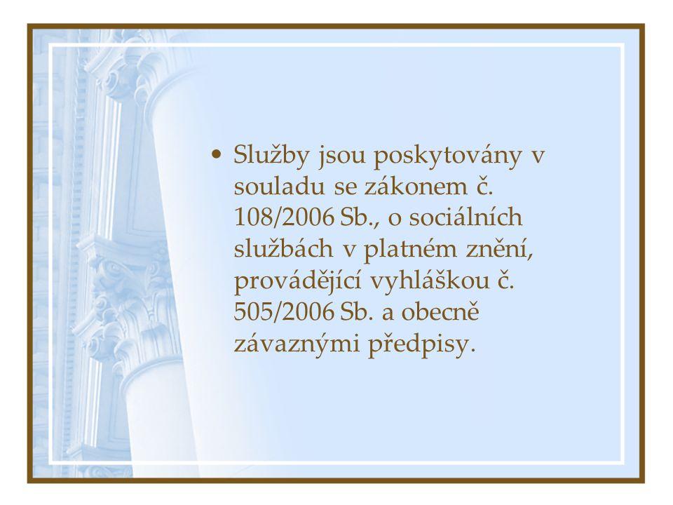 Prostředí poskytované služby: •Domov pro seniory Sluníčko je v provozu od července roku 2000.