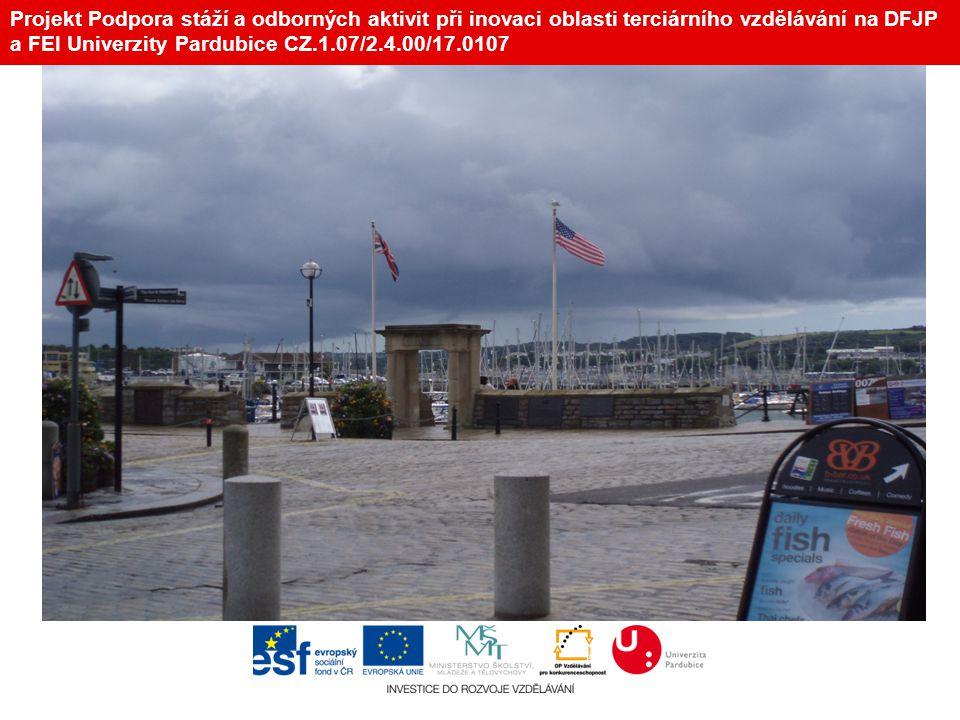 Projekt Podpora stáží a odborných aktivit při inovaci oblasti terciárního vzdělávání na DFJP a FEI Univerzity Pardubice CZ.1.07/2.4.00/17.0107