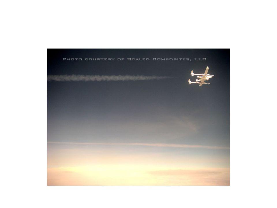 Zážeh hybridního motoru SS1 při samostatném letu