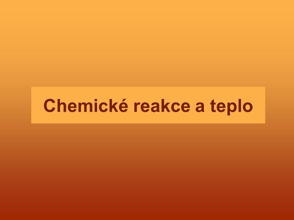 Chemické reakce a teplo