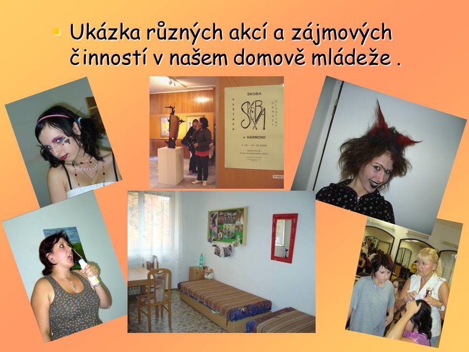  Ukázka různých akcí a zájmových činností v našem domově mládeže.