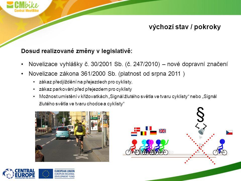 výchozí stav / pokroky Dosud realizované změny v legislativě: •Novelizace vyhlášky č.
