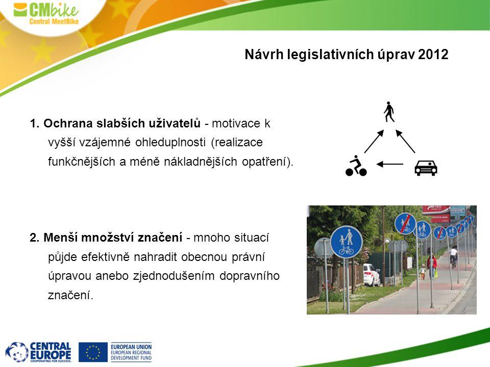 Návrh legislativních úprav 2012 1.