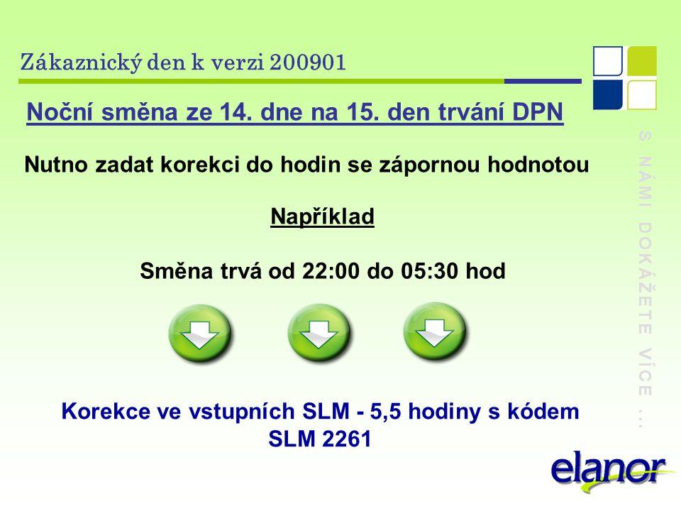 S NÁMI DOKÁŽETE VÍCE...Zákaznický den k verzi 200901 Noční směna ze 14.