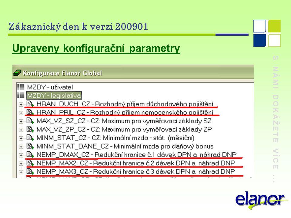 S NÁMI DOKÁŽETE VÍCE... Zákaznický den k verzi 200901 Upraveny konfigurační parametry