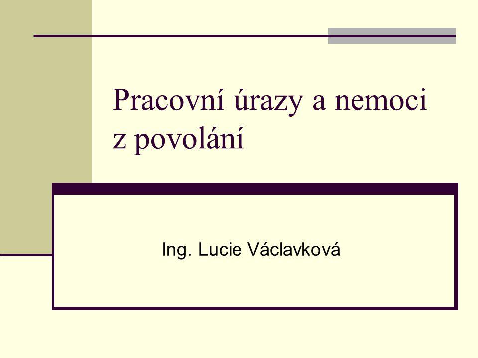Pracovní úrazy a nemoci z povolání Ing. Lucie Václavková