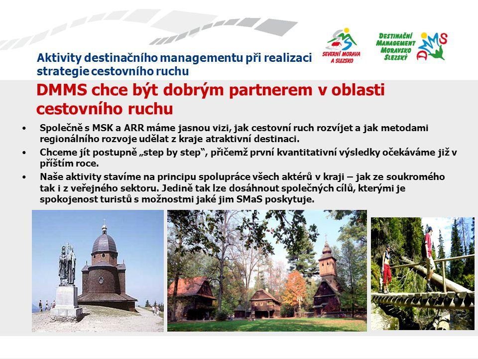 Aktivity destinačního managementu při realizaci strategie cestovního ruchu Destinační management Moravsko-Slezský o.p.s.