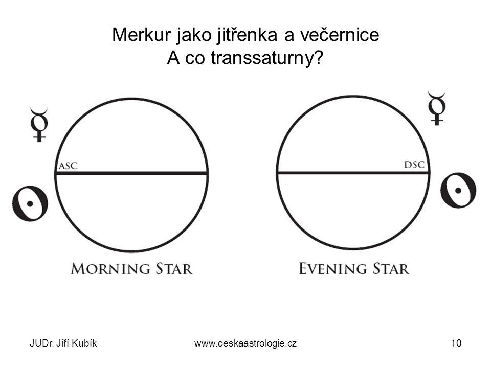 Merkur jako jitřenka a večernice A co transsaturny? JUDr. Jiří Kubíkwww.ceskaastrologie.cz10