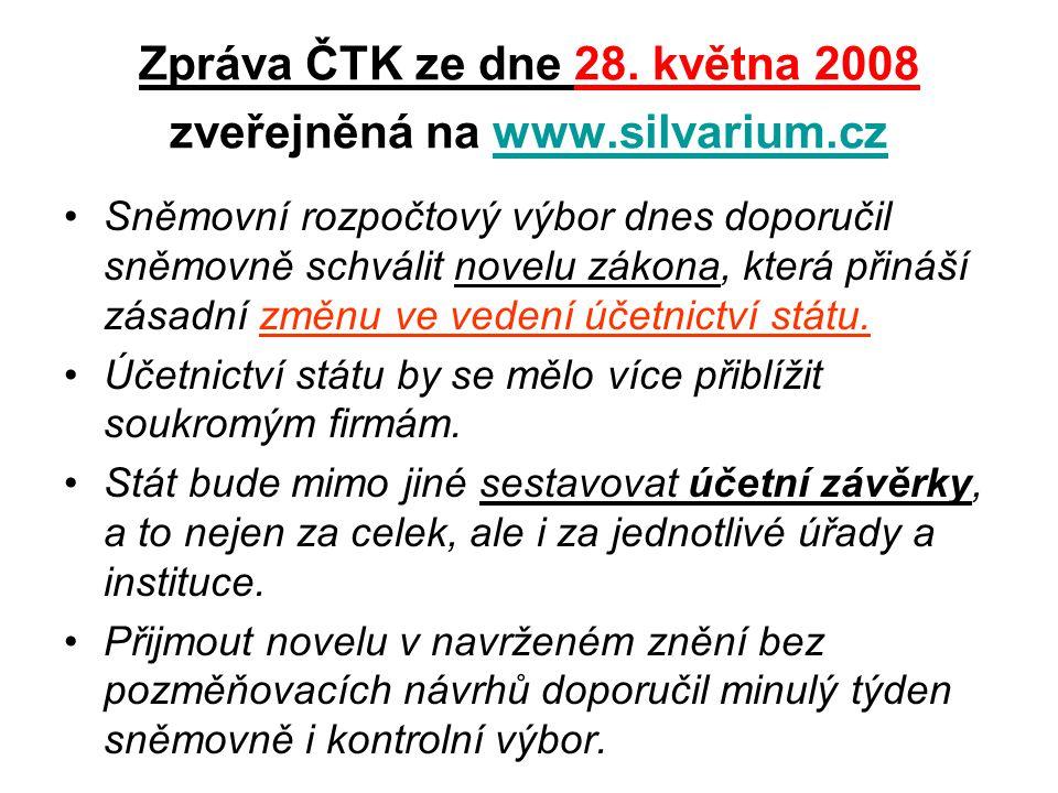 Zpráva ČTK ze dne 28.