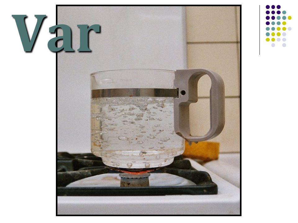 Var  změna skupenství kapalného na skupenství plynné  probíhá  z celého objemu kapaliny  při teplotě varu t v  teplota varu závisí na tlaku a na druhu kapaliny.