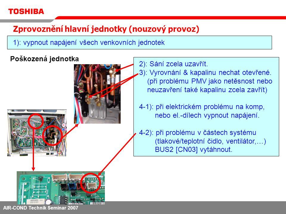 AIR-COND Technik Seminar 2007 5): na rozhraní desky DIP [SW09] [Bit2] ON.